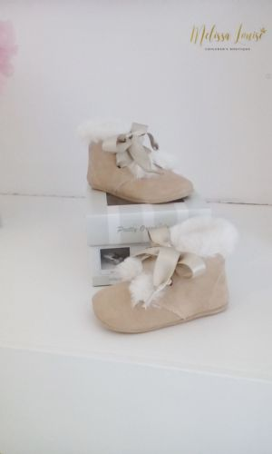 Pretty Originals Suede Baby Boots